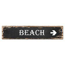 SP0011 BEACH Street Sign Bar Store Shop Pub Cafe Home Shabby Chic Decor