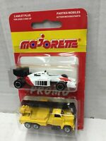 Majorette Promo 2-Pack 1:100 CRANE TRUCK + 1:55 F1 McLAREN 1984 MOC