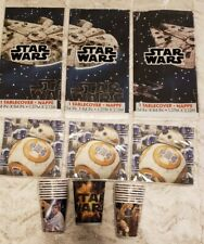 STAR WARS Birthday PARTY ~Paper / ReUsable Cup, BB-8 Napkins,Plastic Tablecovers
