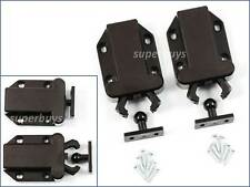 2 Pair Dark Brown Beetle Touch Latch Push to Open Drawer Cabinet Door Catch Lock