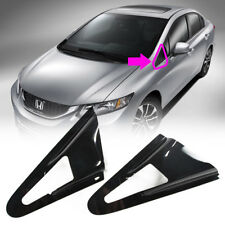 One Day Ship- Fit Honda Civic 9th DX EX Si Sedan Front Side Louver Window Visor