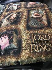 Lord Of The Rings Throw Blanket. Colorful With Beautiful Detail. 44� By 66�