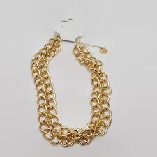 Trifari Gold Tone Double Chain Necklace
