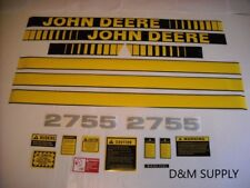 John Deere 2755 tractor decal set with caution decals