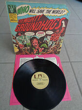 GROUNDHOGS- WHO WILL SAVE THE WORLD? / ORIGINAL US PRESS! / GIMMICK COVER + OIS