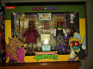 🍕NEW! SPLINTER vs. BAXTER TMNT 2 Pack NECA NICKELODEON Target Exclusive Turtles