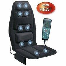 Back Massage Cushion Chair Seat Neck Car Heated Heater Lumbar Massager Shiatsu
