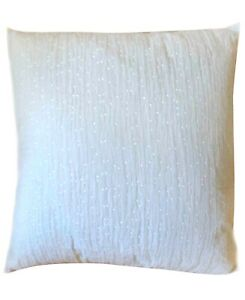 Hotel Collection White Wave Seaglass 22″ x 22″ Decorative Pillow