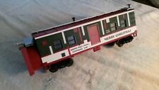 MTH CHRISTMAS SNOW PLOW CAR  -   CONDITION EXCELLENT
