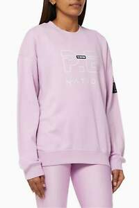 NWT**Pe Nation* Women's Heads Up Sweatshirt Cotton Terry Pullover Jumper Top S/8