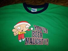 X LARGE STEWIE GRIFFIN YOU'VE BEEN NAUGHTY Cotton T SHIRT Christmas Family Guy