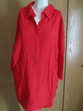 ** WHITE STAG CRINKLE RED BUTTON DOWN SHIRT SZ 16W