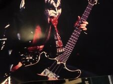 Kiss Gene Simmons Bass Spitting Blood Super Poster! Kiss In Concert Poster