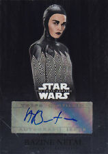 2016 TOPPS CHROME STAR WARS BAZINE NETAL AUTO THE FORCE IS WITH YOU
