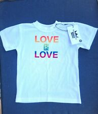 NWT Love is love doggie shirt size L. Pride month Pride collection. White shirt
