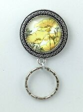 Art Nouveau Buttercup Magnetic ID Badge Eyeglass Holder, Magnetic Pin Brooch