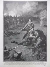 """1915 NEUVE CHAPELLE BRITISH OFFICER'S PRIDE """"PROP ME UP THAT I MAY SEE"""" WWI WW1"""