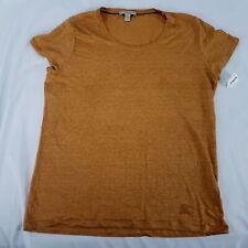 Burberry Brit 100% Linen Chiffon Goldenrod Short Sleeve T-Shirt