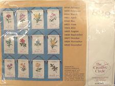 NEW Vintage Creative Circle Embroidery Kit #828 NOVEMBER BANNER CHRYSANTHEMUM