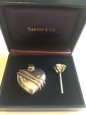 Authentic Tiffany & Co 925 Sterling Silver Mini Perfume Bottle w/ Funnel in Box