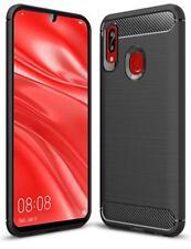 For Huawei Honor P30 7A 7S Y6 Y7 P Smart 2019 Black Carbon Fiber Gel Phone Case