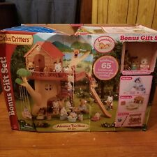 CALICO CRITTERS (ADVENTURE TREE HOUSE) w/ 3 CRITTERS BONUS GIFT SET NEW NIB