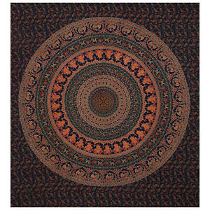 Mandala Indian Tapestry Bohemian Psychedelic Wall Decor Cotton Living Bedspread