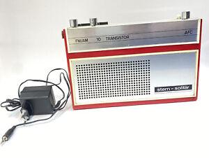 DDR Kofferradio Stern R 130 -Solitär, -AFC-, FM / AM, Rot, +Netzteil