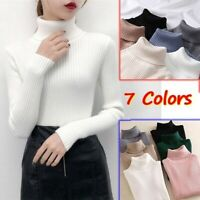 丨Autumn Winter Female Slim Elasticity Pullovers Women Knitted Turtleneck Sweater