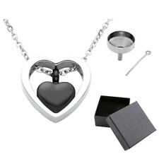 Necklace Ash Holder Keepsake Gift Openable Urn Cremation Heart Memorial Pendant