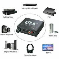 Optical Coaxial Digital to Analog Audio HiFi Headphone Converter Amplifier