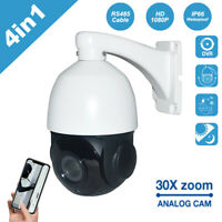 4in1 30X Zoom IR CVI/CVBS/AHD/TVI 2MP Outdoor CCTV PTZ Speed Dome Camera CMOS