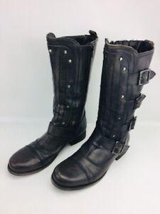 Bronx Women's Black Zip Up Knee-High Boots Size US 9 Women's Buckle Boot