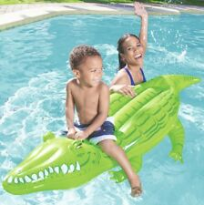 Bestway Inflatable Crocodile Float Swimming Rider Kids Pool Toy Float Ride On