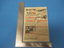 1931 Print Ad, Coyne Electrical School Radio Trained Man Television Big Pay Jobs