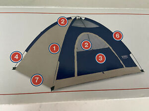 VINTAGE WENZEL 2 MAN SPORT DOME TENT CAMPING HIKING FISHING HUNTING MOTORCYCLE