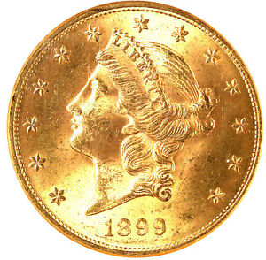 1899 $20 MS64 NGC-LIBERTY HEAD