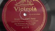 John McCormack - 78rpm single 10-inch – Victor #87573 Since You Went Away