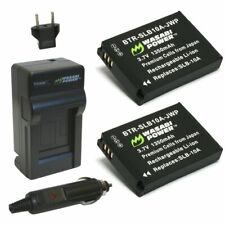 Wasabi Power Battery (2-Pack) and Charger for Samsung SLB-10A
