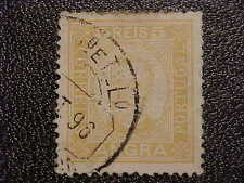 RARE Angra Azores SC1 1892 Canc/H Postage Stamp 5 Reis Yellow H289