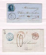 Belgica. 2 Cartas. Prefilatelia y con sello de 10 cts