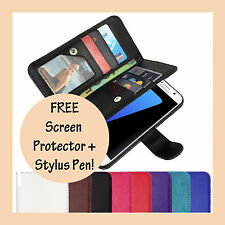 PU Leather Magnetic Leather Flip Case Cover For Samsung Galaxy S4 S5 S6 S7 Edge