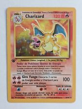 SPANISH Base Set CHARIZARD 1ST EDITION HOLO MINT + charmander + charmeleon 1999