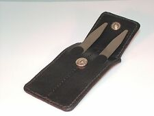 """2 Titanium Collar Stays 2.5"""" L x .37""""W Leather Pouch Included Nice Gift Classy"""