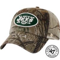 47 Brand New York Jets Camo Realtree Hunting Football Hat Cap Adjustable