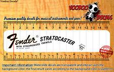 Fender Stratocaster 1969 Headstock Restoration Waterslide Decal