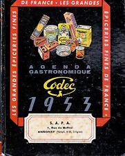 AGENDA ECONOMIQUE CODEC 1953 / TRES BON ETAT / JAMAIS SERVI / edition originale