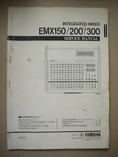 Yamaha Intergrated Mixer EMX150/200/300 Service Manual