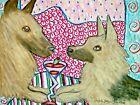 Belgian Tervuren Martini Art Print 5 x 7 Collectible by Artist KSams Dogs