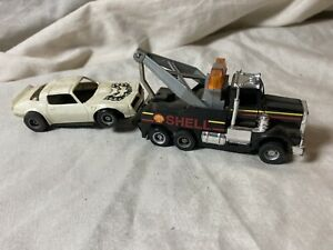 Vintage Tyco US 1 Electric Trucking Wrecker & Disabled Firebird Car